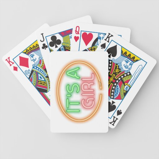 Óvalo es un chica baraja cartas de poker