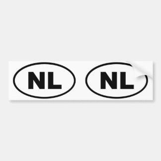 Óvalo europeo de Países Bajos NL Pegatina De Parachoque