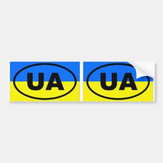 Óvalo europeo de Ucrania UA Pegatina Para Auto