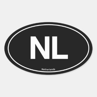 Óvalo holandés calcomanía de óval