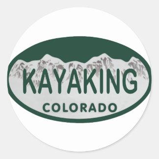 Óvalo Kayaking de la licencia Etiqueta