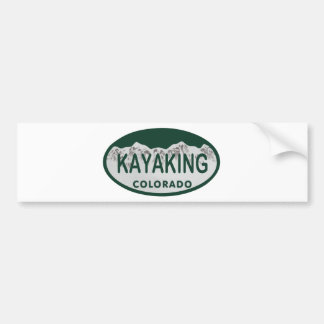 Óvalo Kayaking de la licencia Pegatina Para Auto