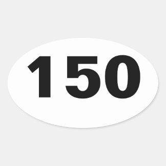 Óvalo pegatina de 150 millas