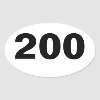 Óvalo pegatina de 200 millas