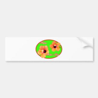 Óvalo rojo de madre del día del verde feliz del hi etiqueta de parachoque