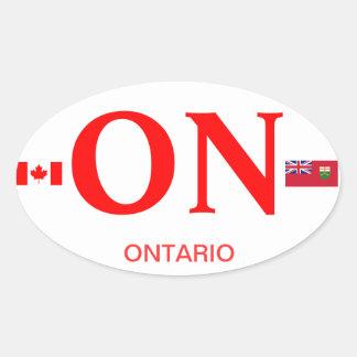 Óvalo Stkcer del Euro-estilo de Canadá Ontario* Calcomanías Ovales