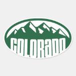 Óvalo verde de Colorado Calcomanía Óval Personalizadas