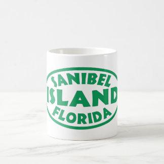 Óvalo verde de la Florida de la isla de Sanibel Taza