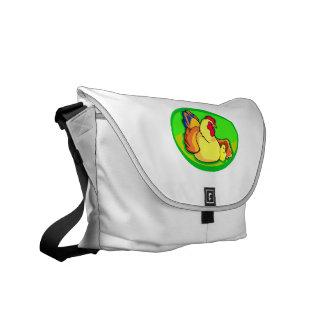 óvalo verde del pollo y del polluelo bolsas de mensajería