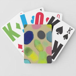 Óvalos coloridos abstractos baraja cartas de poker