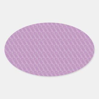 Óvalos del Los (púrpuras) Pegatina Ovalada
