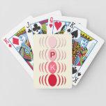 Óvalos y crecientes - rosa barajas de cartas