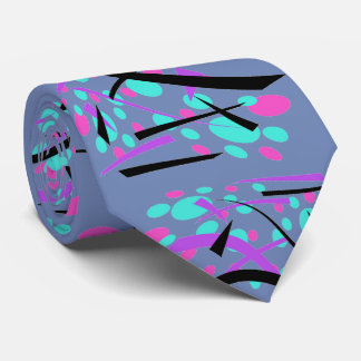 Ovals and Curves Stylish Retro Design Neck Tie