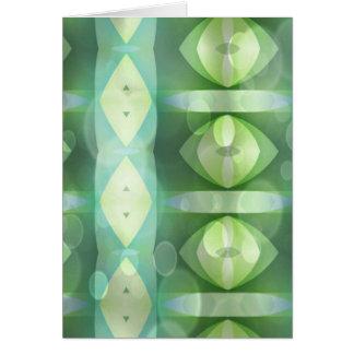 Ovals Overlay Aqua & Green Fractal Card