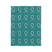 Ovarian & Breast Cancer Syndrome Awareness Blanket