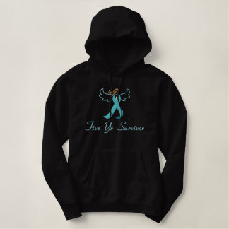 Ovarian Cancer 5 Year Survivor embroidered Embroidered Hoodie