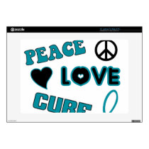 "Ovarian Cancer Awareness 15"" Laptop Skins"
