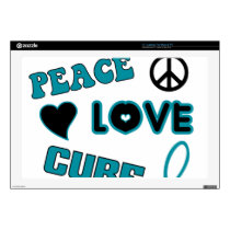 "Ovarian Cancer Awareness 17"" Laptop Skin"