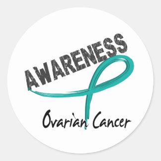 Ovarian Cancer Awareness 3 Classic Round Sticker