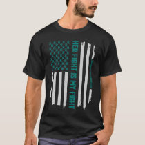 Ovarian Cancer Awareness American Flag T-Shirt Tee