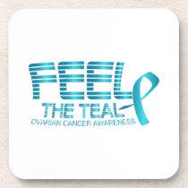 Ovarian Cancer Awareness Beverage Coaster