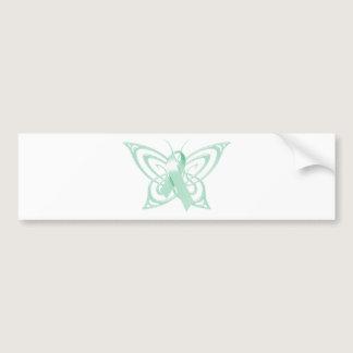 Ovarian Cancer Awareness Butterfly Bumper Sticker