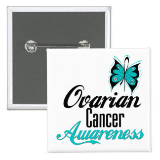 Ovarian Cancer Awareness Butterfly Button