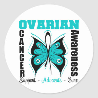 Ovarian Cancer Awareness Butterfly Stickers