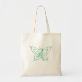Ovarian Cancer Awareness Butterfly Tote Bag
