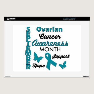 "Ovarian Cancer Awareness Decals For 15"" Laptops"