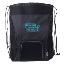 Ovarian Cancer Awareness Drawstring Backpack