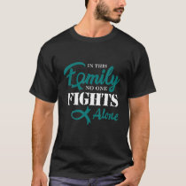Ovarian Cancer Awareness Fight Cancer Ribbon T-Shirt