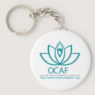 Ovarian Cancer Awareness Foundation Logo Line Keychain