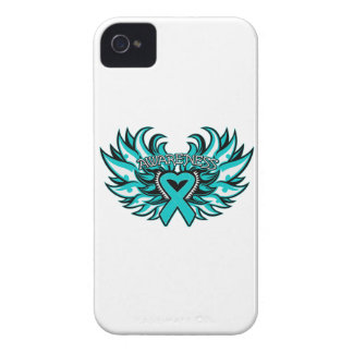 Ovarian Cancer Awareness Heart Wings Case-Mate iPhone 4 Case