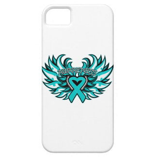 Ovarian Cancer Awareness Heart Wings iPhone SE/5/5s Case