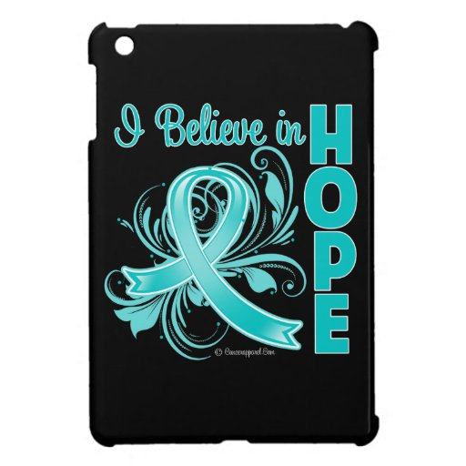 Ovarian Cancer Awareness I Believe in Hope Cover For The iPad Mini