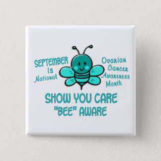 Ovarian Cancer Awareness Month Bee 1.1 Pinback Button