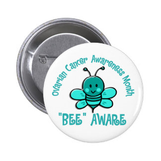 Ovarian Cancer Awareness Month Bee 1.2 2 Inch Round Button