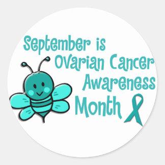 Ovarian Cancer Awareness Month Bee 1.3 Classic Round Sticker