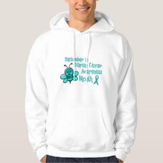 Ovarian Cancer Awareness Month Bee 1.3 Hoodie