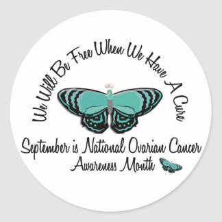 Ovarian Cancer Awareness Month Butterfly 1.1 Stickers