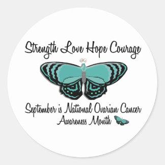 Ovarian Cancer Awareness Month Butterfly 1.2 Round Sticker