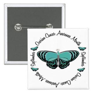 Ovarian Cancer Awareness Month Butterfly 1.3 Pinback Button