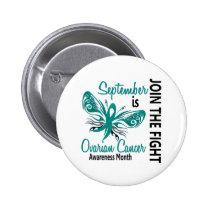 Ovarian Cancer Awareness Month Butterfly 3.1 Button