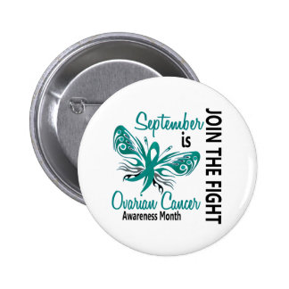 Ovarian Cancer Awareness Month Butterfly 3.1 Button