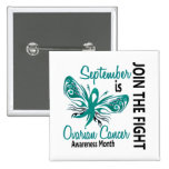 Ovarian Cancer Awareness Month Butterfly 3.1 Pinback Button