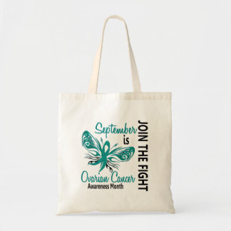 Ovarian Cancer Awareness Month Butterfly 3.1 Tote Bag