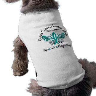 Ovarian Cancer Awareness Month Butterfly 3.2 Doggie Tee