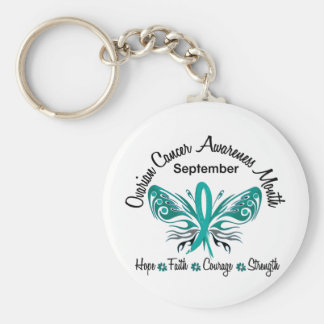 Ovarian Cancer Awareness Month Butterfly 3.2 Keychain