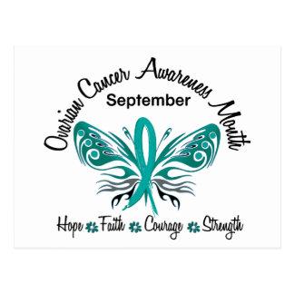 Ovarian Cancer Awareness Month Butterfly 3.2 Postcard